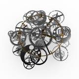 Metal do maquinismo de relojoaria Foto de Stock Royalty Free