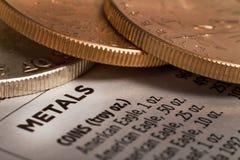 Metal do ouro Imagem de Stock