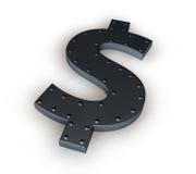 Metal dollar symbol Stock Photography