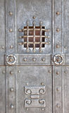 Metal door. Of the ancient castle stock images