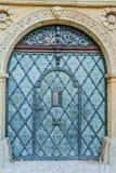 Metal door in an ancient fortress Stock Photo