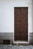 Metal door in an ancient fortress Royalty Free Stock Photos