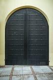 Metal door in an ancient fortress Stock Images