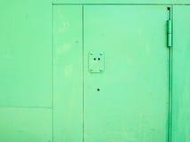 Metal door. Stock Photo