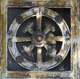 Metal Door Decoration (abstract nature pattern) Royalty Free Stock Photos