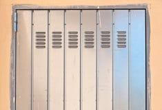 Metal door. Detail of a metal door Royalty Free Stock Photography