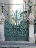 Metal door. Door, entrance, art, portal Royalty Free Stock Images