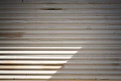 Metal door garage Royalty Free Stock Image