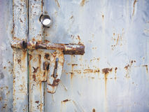 Metal Door gate Lock Rusty Textured surface Background Royalty Free Stock Photography