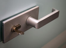 Metal door handle Royalty Free Stock Photo