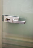 Metal door handle Stock Photography