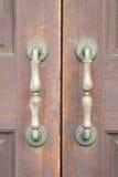 Metal door handle old style Stock Images
