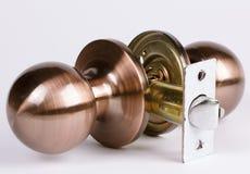 Metal door handle Stock Photo