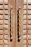 Metal Door Handles Stock Photography