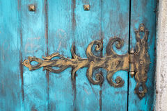 Metal door hinge Royalty Free Stock Photo