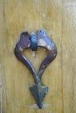 Metal door knocker for woman in Iran. Stock Photo