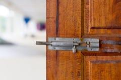 Metal Door Latch. royalty free stock photo