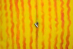 Metal door with lock Royalty Free Stock Image