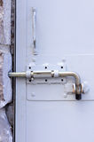 Metal door lock Stock Photography