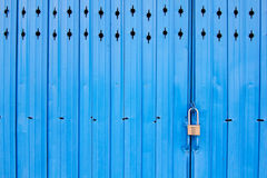 Metal door with lock Stock Images