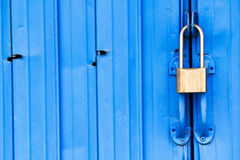 Metal door with lock Stock Image