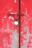 Metal door with a lock Stock Photos