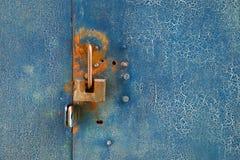 Metal door with lock Royalty Free Stock Photo