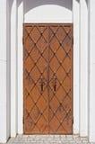 Metal door in an old building Royalty Free Stock Images