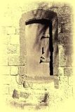 Arabic Style for Doors in Old Acre. Metal door in the old city of Akko in Israel.  Traditional Arabic style for doors in old Acre. Vintage style toned picture Royalty Free Stock Image