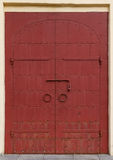 Metal door with rivets Royalty Free Stock Photo