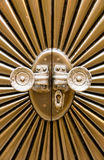Metal door shaped sunburst. Royalty Free Stock Photo