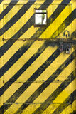 Metal Door Warning Sign Royalty Free Stock Photography