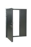 Metal door. Royalty Free Stock Photos