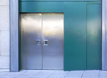 Metal doors Stock Images