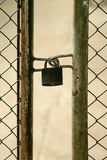 Metal doors padlocked grunge gate Stock Photos