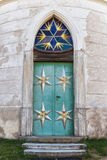 Metal doors. Pilgrimage church at Green Mountain. UNESCO monument Stock Photography