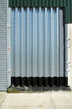 Metal Doorway. Building exterior detail showing metal doorway stock photography