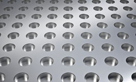 Metal dot plate Royalty Free Stock Image