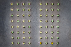 Metal dotted surface, texture background Stock Photography