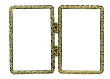 Metal double frame. Isolated on white background Stock Images