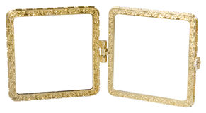 Metal double-frame in vintage style Royalty Free Stock Photos