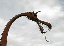 Metal dragon Stock Photos