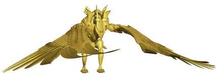 Metal Dragon. 3d render of a metal dragon vector illustration