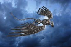 Metal Dragon. 3d render of a metal dragon stock illustration
