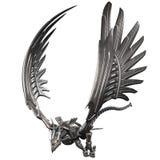 Metal Dragon. 3d render of a metal dragon royalty free illustration