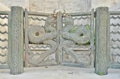 Metal dragon door Stock Image