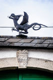 Metal Dragon on the Roof Stock Image