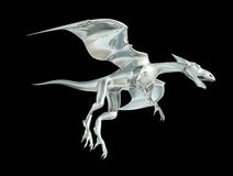 Metal dragon Stock Images