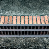 Metal drain cover Royalty Free Stock Images
