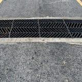 Metal drain cover Stock Images
